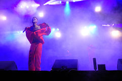 Die Antwoord performs live at Electric Castle Royalty Free Stock Image