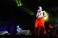 Die Antwoord performs live at Electric Castle Royalty Free Stock Photos