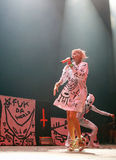 Die antwoord 029. South Africa electronic music band Die antwoord, Ninja and Yolandi visser, performs live during the first night of the 2015 Sonar night royalty free stock image
