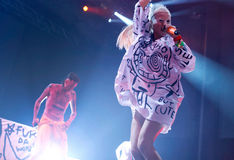 Die antwoord 036. South Africa electronic music band Die antwoord, Ninja and Yolandi visser, performs live during the first night of the 2015 Sonar night royalty free stock photos