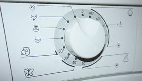 Die Anweisungen für Waschmaschine Lizenzfreies Stockfoto