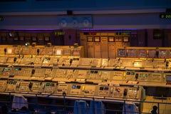 Die Apollo Mission Control NASA Kennedy Space Center lizenzfreie stockfotos