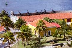 Die 12 Apostel-Verteidigungs-Batterie, in Havana Bay-Eingang, Kuba stockfotos