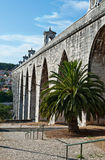 Die Aquädukt Aguas-Livren Stockfotografie