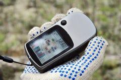 Die Arbeitssatellit GPS-navi Stockbild