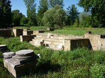 Die archäologische Fundstätte von altem Dion, Griechenland Stockbild