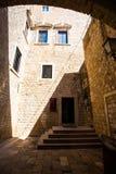 Die Architektur alter Stadt Dubrovniks Lizenzfreie Stockfotografie