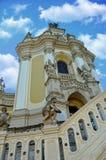 Die Architektur der alten Griechisch-katholischen Kirche Stockbild