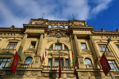 Die Architektur der alten Häuser, alte Stadt, Prag, Tschechische Republik Stockfotografie