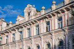 Die Architektur im alten Bezirk der Stadt Lizenzfreies Stockfoto