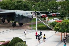 Die Architektur und die nicht identifizierten Touristen sind im Kriegs-Denkmal von Korea Lizenzfreies Stockfoto