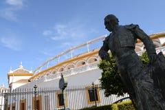 Die Arenas von Stieren von Sevilla in Spanien lizenzfreie stockfotos