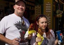 Die Arizona-Renaissance-Festival-Türkei-Fahrwerkbeine Lizenzfreie Stockfotos