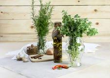 Die aromatischen Kräuter lizenzfreie stockfotos