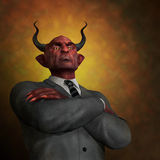 Die Arroganz des Übels Stockfoto