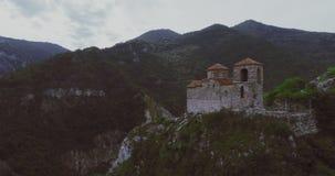Die Asen-` s Festung in Asenowgrad Plowdiw Bulgarien stock video