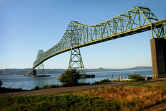 Die Astoria Megler Brücke stockfotos