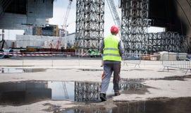Die Atomkraftwerk-Zone Tschornobyls der Entfremdung Stockbild