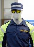 Die Attrappe in der neuen Form des Inspektors der Verkehrspolizei des Zustands-Verkehrssicherheits-Inspektorats Lizenzfreie Stockbilder