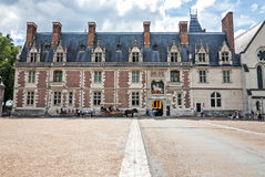 Die Außenfassade von Blois-Schloss Stockfotos