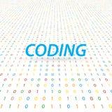 Die Aufschrift kodiert auf einem digitalen Hintergrund Lizenzfreies Stockbild