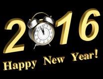 Die Aufschrift 2016 mit Uhr Stockfoto