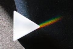 Die Aufspaltung des Lichtes in einem Prisma Lizenzfreies Stockbild