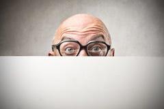 Die Augen des Mannes mit Gläsern Lizenzfreies Stockfoto