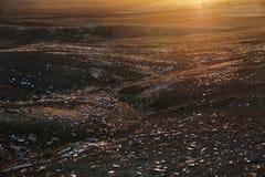 Die Ausbrechene Sprechen Sie Ebenen und Glimmergruben von Süd-Australien Kauderwelsch Stockbilder