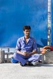 Die Ausnutzung von indischen Arbeitskräften in Dubai lizenzfreie stockfotografie
