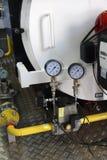 Die Ausrüstung des Gas Dampfkesselhauses Stockfoto