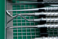 die Ausrüstung von Zahnheilkundesorgfalt Stockbilder