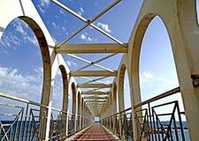 Die Aussicht des Piers von Pirgo Lizenzfreies Stockbild