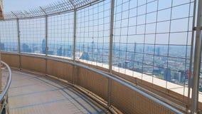 Die Aussichtsplattform von Baiyoke-Turm II, Bangkok, Thailand stock video footage