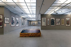 Die Ausstellung der chinesischen Malerei und der Kalligraphie Lizenzfreie Stockfotografie