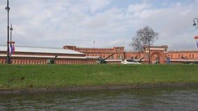 Die Ausstellung des Artillerie-Museums stock video footage