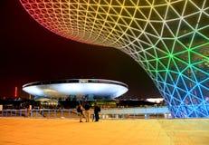 Die Ausstellungs-Prachtstraße an der Weltausstellung in Shanghai Stockbild
