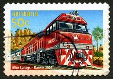 Die australische Briefmarke Ghan Lizenzfreie Stockfotos
