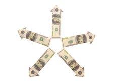 Die Auswirkung des Dollars auf die fünf Kontinente lizenzfreie stockbilder