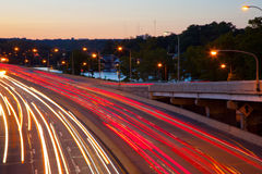 Die Autobahn Stockbild