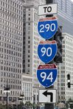 Die Autobahnzeichen stockbild