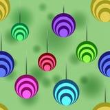 Die Bälle auf einem grünen Hintergrund, Muster Stockfotos