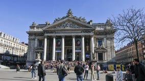 Die Börse in Brüssel stock video