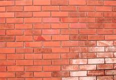 Die Backsteinmauer-Wand des Wand-Ziegelstein-roten Backsteins Stockbild