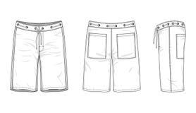 Die Badebekleidung der leeren Männer vektor abbildung