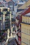 Die Badekurortstadt von Karlsbad Stockbilder