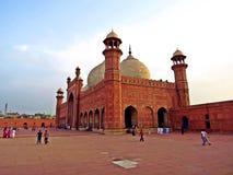 Die Badshahi-Moschee in Lahore, Pakistan lizenzfreies stockbild