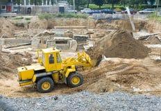 Die Baggergrabungen Stockbild