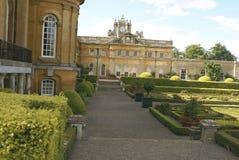 Die Bahn des Blenheim-Palast-Gartens in Woodstock, Oxfordshire, England Stockbild
