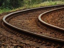 Die Bahngleise Stockfoto